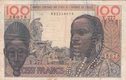 BILLET 100 FRANCS BCEAO PICK 2 SIGN 5BON ETAT  VOIR SCAN - États D'Afrique De L'Ouest