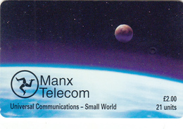 Isle Of Man  Phonecard - Small World - Superb Fine Used - Isla De Man