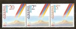 1992 Armenie Yvertn° 176-178 *** MNH Cote 6,50 Euro Anniversaire De L' Indépendance - Arménie