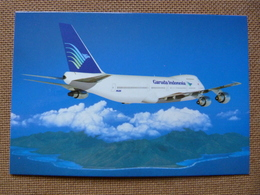AIRLINE ISSUE / CARTE COMPAGNIE   GARUDA  B 747 200 - 1946-....: Modern Era
