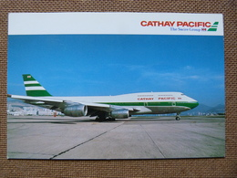 AIRLINE ISSUE / CARTE COMPAGNIE       CATHAY PACIFIC  B 747 300 - 1946-....: Modern Era