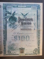 LOT  2   BANCO Central    Mexicano    1905 + Coupons - Actions & Titres
