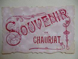 Souvenir De Chauriat  1907  Beziers Herault Bourg Lastic  (f3 - Clermont Ferrand