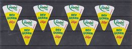 AC - PINAR GIANT TRIANGLE TRIANGULAR CREAM CHEESE LABELS WHOLE FAT 8 PIECES X 25 Gr FROM TURKEY - Cheese