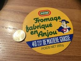 Etiquette Fromage «fabriqué En Anjou - Coop » - Formaggio