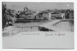 Souvenir De Geneve - Pont Des Bergues Et Grand Quai - Undivided Back 1901 - GE Geneva