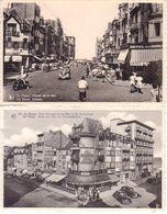 La Panne - Lot De Deux Cartes - Coin Avenue De La Mer Et De Dunkerke - Avenue De La Mer - De Panne