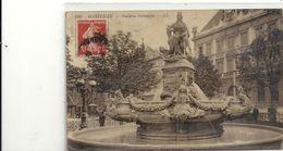 CARTE-PHOTO GLACEE. 220. MARSEILLE . FONTAINE ESTRANGIN . AFFR LE 24-10-1909 SUR RECTO - The Canebière, City Centre