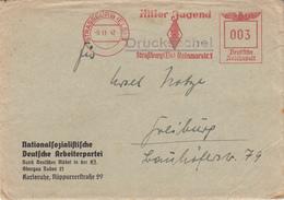 Env Avec EMA De STRASSBURG (ELS) 1 / Hitler Jugend / Straßburg (Els) Reinmarstr. 1 Du 6.11.42 - Poststempel (Briefe)