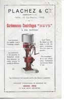 Ecrèmeuse Centrifuge Meys. Plachez Et Cie. (Agriculture) - Agriculture