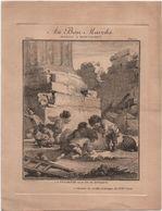 Au Bon Marché/Maison Boucicaut/Vieilles Estampes XVIIIè/La Fossette Ou Le Jeu De Noyaux/Devambez Gr /Vers 1880-90 IMA421 - Au Bon Marché