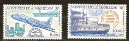 Saint-Pierre Et Miquelon 1987 Yvertn° LP PA 64-65 *** MNH Cote 9,10 Euro Avions Vliegtuigen Airplanes - Neufs