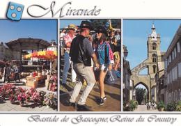 32 MIRANDE / MULTIVUES - BLASON / BASTIDE DE GASCOGNE - REINE DU COUNTRY - Mirande
