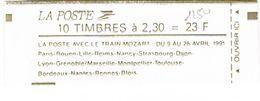 CARNET 2614C11 MARIANNE BRIAT 2.30/10 LE TRAIN MOZART - Carnets
