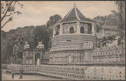 Temple Of The Holy Tooth, Kandy, Ceylon, C.1910 - Plâté Postcard - Sri Lanka (Ceylon)
