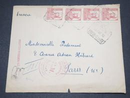 ESPAGNE - Enveloppe En Recommandé De San Sébastian Pour La France En 1938 Avec Censure - L 14549 - Republikanische Zensur