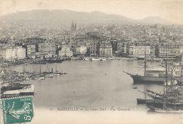 6. MARSEILLE . LE VIEUX PORT . VUE GENERALE . AFFR SUR RECTO - Old Port, Saint Victor, Le Panier
