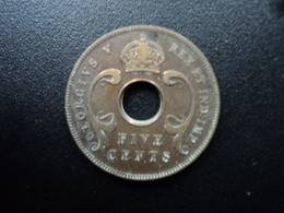 AFRIQUE DE L'EST (ANGLAIS) : 5 CENTS  1923  KM 18   TTB - British Colony