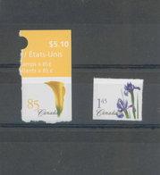Canada MNH 2004 Flower From Booklet / Fleur # 2081 - 2082 Mint De Carnet - 1952-.... Reign Of Elizabeth II