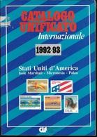 CATALOGO UNIFICATO - STATI UNITI - EDIZIONE 1992/3 - BIANCO E NERO -  USATO OTTIMA CONDIZIONE - Italia