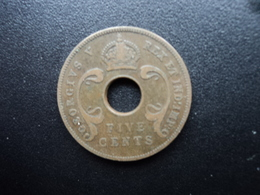 AFRIQUE DE L'EST (ANGLAIS) : 5 CENTS  1933  KM 18   TTB - British Colony
