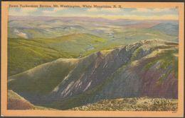 Down Tuckerman Ravine, Mount Washington, New Hampshire, 1955 - Tichnor Postcard - White Mountains
