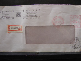 LetDoc. 271. Affranchissement Mécanique De 38 Francs En Recommandé Pour Bruxelles En 1979 - Franking Machines