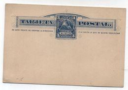 Nicaragua 3c POSTAL CARD 1882 - Nicaragua