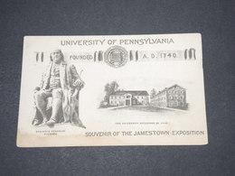 ETATS UNIS - Carte Postale -  University Of Pennsylvania - Benjamin Franklin , Jamestown Exposition - L 14560 - Etats-Unis