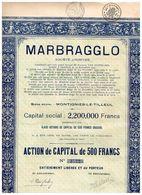 Ancienne Action - Marbragglo - Action De Capital - Titre De 1928 - - Industrie