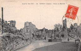 68 - Cernay - Les Ruines De La Place Du Marché - ( Guerre De 1914-1918 ) - Cernay