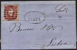 PORTUGAL, 1871, D. LUIZ I, NICE COVER FROM SERPA TO LISBOA, VERY FINE - Cartas