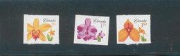 Canada MNH 2007 Flower From Booklet / Fleur # 2254 - 2255 - 2256  Mint De Carnet - 1952-.... Reign Of Elizabeth II