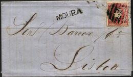 PORTUGAL, 1864, D. LUIZ I, NICE COVER FROM MOURA TO LISBOA, VERY FINE - Cartas