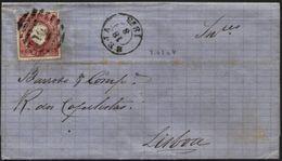 PORTUGAL, 1875, D. LUIZ I, NICE COVER FROM BEJA TO LISBOA, VERY FINE - Cartas