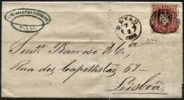 PORTUGAL, 1875, D. LUIZ I, NICE COVER FROM ELVAS TO LISBOA, VERY FINE - Cartas