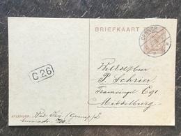 E22 Niederlande Netherlands Pays-Bas Ganzsache Stationery Entier Postal P 159 Von Gennep Nach Middelburg - Postwaardestukken