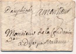 Lettre Paris Manuscrit Dauphine De 1720 - 1701-1800: Precursori XVIII