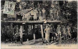 CPA Laos Types Circulé Raquez - Laos