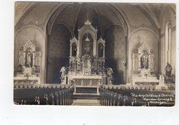 HARBOR SPRINGS, Michigan, USA, Interior Of Holy Childhood Church, 1926 RPPC - Etats-Unis