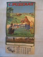 Grand Calendrier De 1929 Machines Agricoles Puzenat Bourbon Lancy Etbts Richaud à Oraison (04) - Calendars