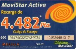 TARJETA TELEFONICA DE ESPAÑA, (PREPAGO) 262. - Espagne