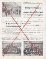 BRASSCHAAT BROCHURE 1957 BRANDWEER FEESTEN EN FESTIVAL, 9 FOTO'S 1STE BRANDWEERPOMP 1881, BRANDWEERKORPS 1911 EN LATER - Brasschaat