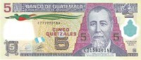 Guatemala - Pick 122 - 5 Quetzales 2010 - Unc - Guatemala