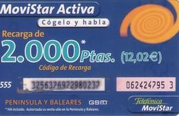 TARJETA TELEFONICA DE ESPAÑA, (PREPAGO) 264. - Espagne