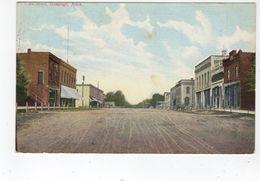 BANCROFT, Michigan, USA, Both Sides Of Main Street & Stores, 1910 Canaan Postcard - Etats-Unis