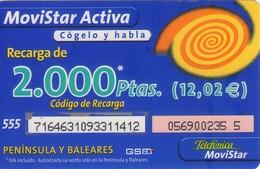 TARJETA TELEFONICA DE ESPAÑA, (PREPAGO) 265. - Espagne