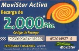 TARJETA TELEFONICA DE ESPAÑA, (PREPAGO) 266. - Espagne