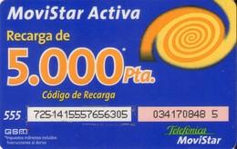 TARJETA TELEFONICA DE ESPAÑA, (PREPAGO) 267. - Espagne