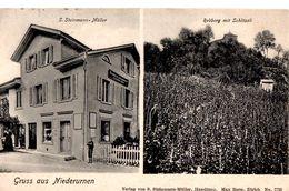 Gruss Aus Niederurnen - S. Steinmann-Müller - Rebberg Mit Schlössli - GL Glarus